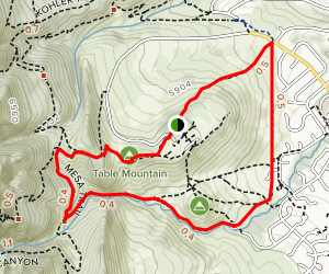 Bear Canyon to Table Mesa Loop Map
