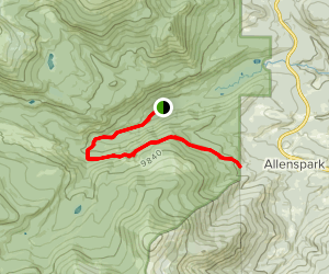 Wild Basin Trail to Allenspark Trail Map