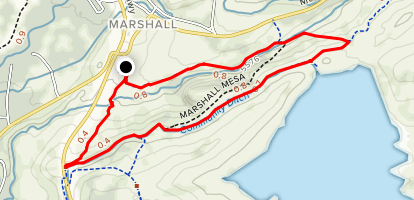 Coal Seam, Community Ditch, Mesa Valley Loop Map