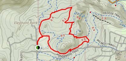 Bearberry Trail to Silver Fox Trail Loop Map
