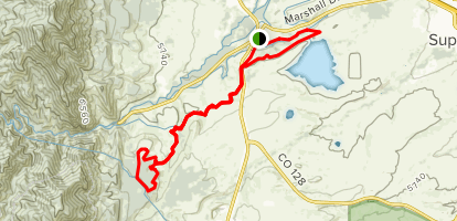 Community Ditch to Doudy Draw and Spring Brook Loop to Marshall Mesa Map