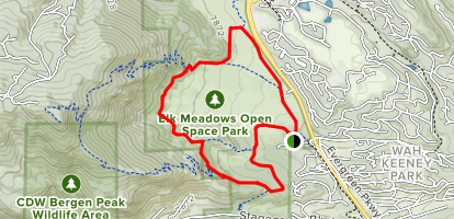 Painter's Pause, Meadow View and Sleepy S Trail Loop Map