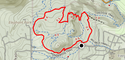 Hidden Fawn and Bearberry Trail Map