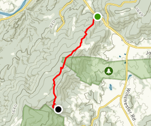 Appalachian Trail: Route 50 to Whiskey Hollow Map