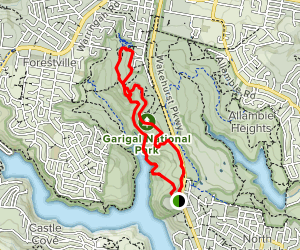 Timbergetters, Bay, Bluff, and Ghania Loop Map