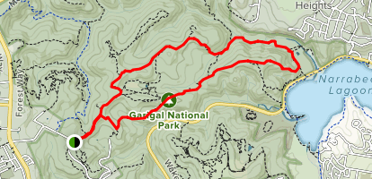 Slippery Dip, XC, Road to Nowhere, Deep Creek, and Power Lines Loop Map