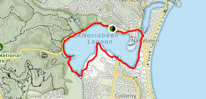 Narrabeen Lagoon Loop Map
