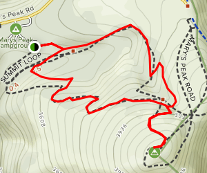 Mary's Peak Campground to Mary's Peak via Summit Loop  Map