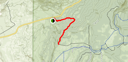 Continental Divide Trail from NM 547  Map