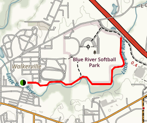 Little Blue River Trail  Map