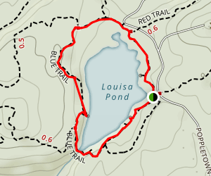 Louisa Pond via Blue Trail Map