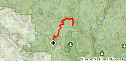 Shuteye Peak from Central Camp / Road  274 Map