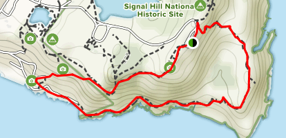 Signal Hill via North Head Trail (CLOSED) Map