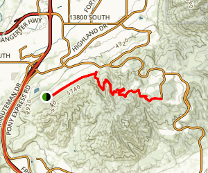 Bonnieville Shoreline, Anns, Maple Hollow North and Eagle Crest Trail Map