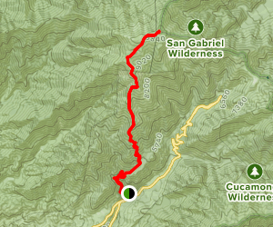 Old Mount Baldy Trail Map