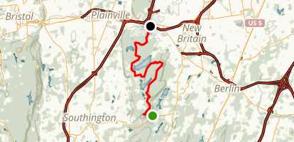 Metacomet Trail: Southington Road to Woodford Avenue  Map