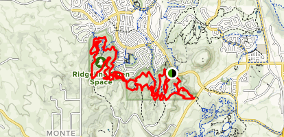 Ridgeline Open Space Loop Map