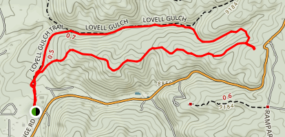 Lowell Gulch Upper and Lower Ridge Trail Map