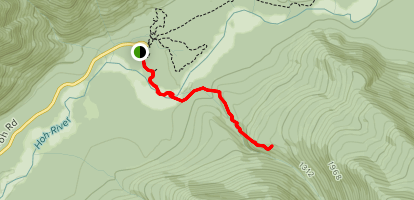 Hoh River and Jackson Creek Trail Map