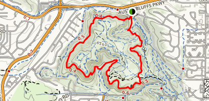 Templeton Trail to Mesa Trail Loop Map