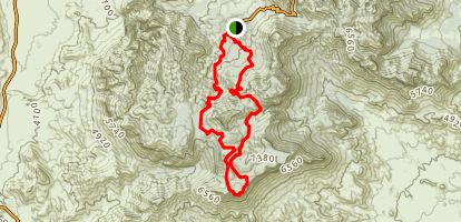 Colima to South Rim Loop Map