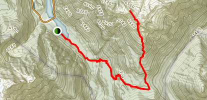 Ruby Mountain Summit via Fourth of July and Thunder Creek Trail  Map