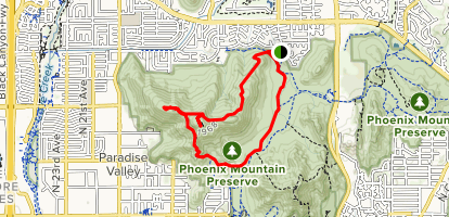 Shaw Butte Loop  Map