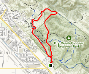 Meyer's Ranch and High Ridge Loop  Map