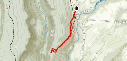 Piedra Ice Fissures Trail Map