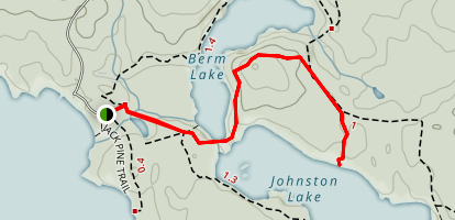 Achray Campground to Johnston Lake Map