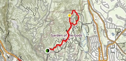 Cabin Canyon, Siamese Twins, Palmer and Central Garden Trail Loop Map