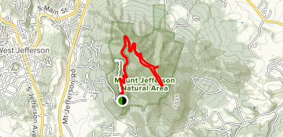 Luther Rock via Rhododendron and Lost Province Trail  Map