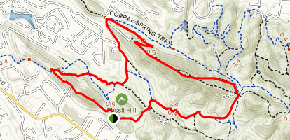 Fossil Hill, Ginder Gap, Ridge Top to Summit Ridge Trail  Map