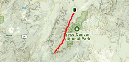 East Fork of the Sevier River Scenic Backway Map