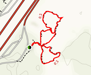 Hell's Half Acre Loop: Northbound Map