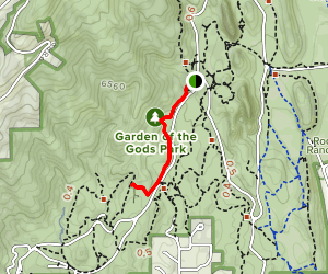 Palmer Trail to Siamese Twins Map