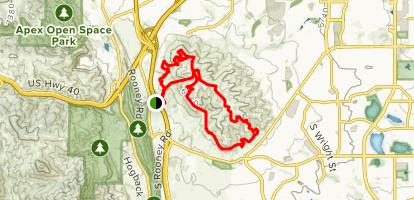 Box O' Rox, Rooney, Hayden, and Green Mountain Trails Loop Map
