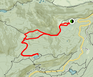 Mill Creek Basin Trail to Bierstadt Lake Map