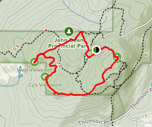 Cy's Viewpoint and Mount Newton Loop Map
