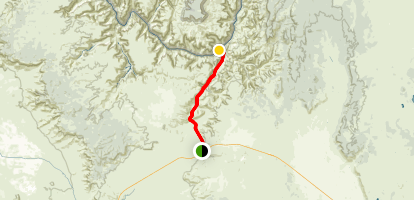 Hualapai Route 6 to The Colorado River Map