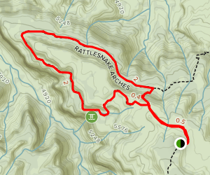 Rattlesnake Arches Upper Trail Loop Map