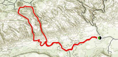 Ding and Dang Canyons Map