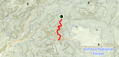 Round Mountain South Trail  Map