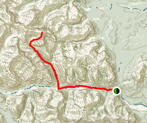 Castle Rock via Ghost River and Astral Peak Trails Map
