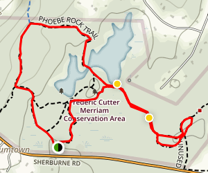 Clifton, Phoebe Rock and Charles Jack Path  Map