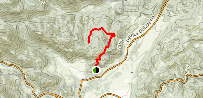 Gem Trail to Balanced Rock Map