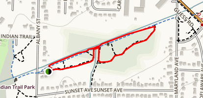West Ellerbee Creek Trail  Map