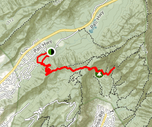 Judd Memorial Trail to Manoa Falls Map