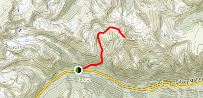 Mount Parnassus via Watrous Gulch Map