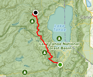 PCT: Echo Lake to Squaw Valley Map